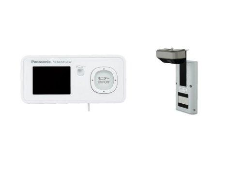 Panasonic ワイヤレスドアモニター ドアモニ マシュマロホワイト ワイヤレスドアカメラ+モニター親機 各1台セット VL-SDM100-W
