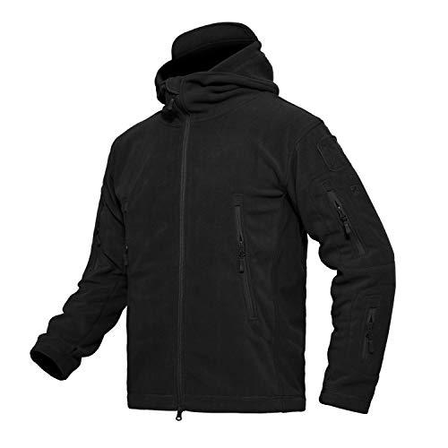 MAGCOMSEN メンズ アウター 保温性 普段着 軽量 コート 軍用 トレーニングウェア 無地 透湿 ブラック S