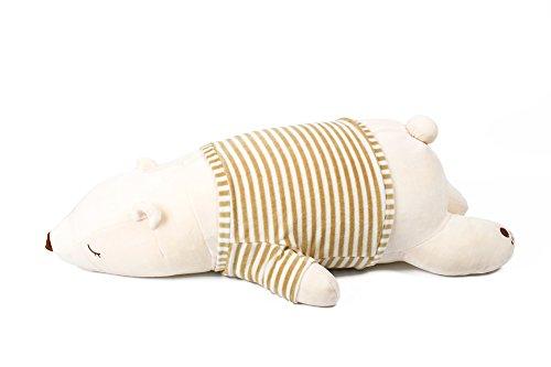 IKASA とろけるような肌触り プレミアム 抱き枕Lサイズ ホワイト 76x33x23cm