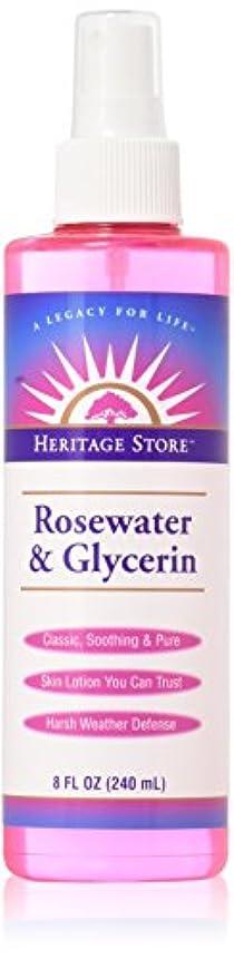 木落胆させる一貫したHeritage Products, Rosewater & Glycerin, Atomizer Mist Sprayer, 8 fl oz (240 ml)
