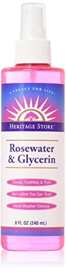 移行するラメ落ち着いたHeritage Products, Rosewater & Glycerin, Atomizer Mist Sprayer, 8 fl oz (240 ml)