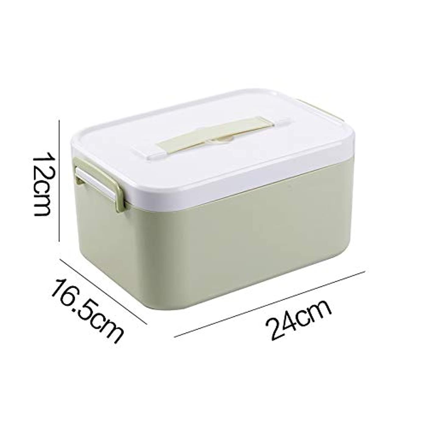 HTDZDX 薬箱収納ボックス、職場応急処置キット、ファミリープラスチック応急処置収納ボックス (Color : Single layer, Size : S)