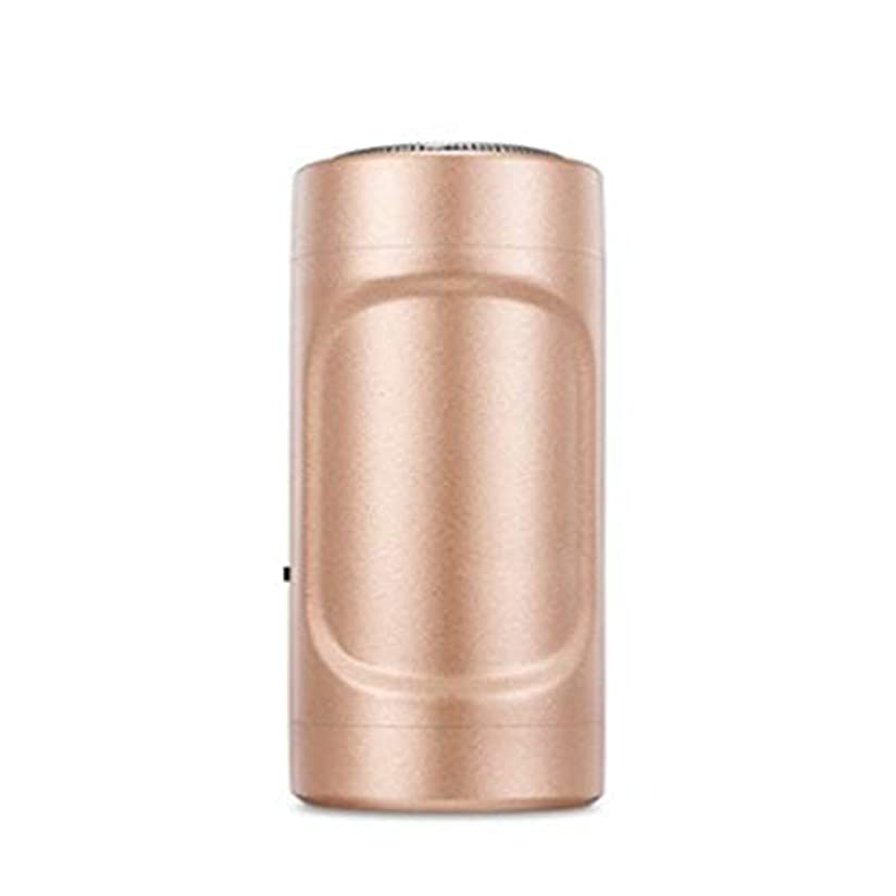 役立つパッド工場ミニシェーバーUSBアップルアンドロイドミニエピレータ屋外旅行懐中電灯ミニポケット(真鍮)