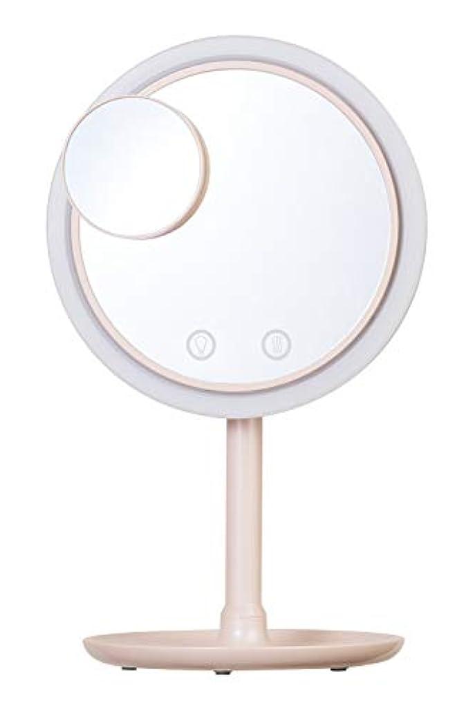 バタフライむさぼり食うスクラブSIMPLE MIND Airy Make Fan Mirror エアリー メイク ファン ミラー 化粧鏡 SMHB-012 (ピンク)