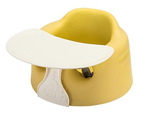 バンボ BUMBO ベビーソファ トレイ ベルト付き ベビーチェア ペールイエロー Baby Sitter + TRAY SET Combo Pale Yellow 赤ちゃん イス テーブル トレー 出産祝い プレゼント [並行輸入品]