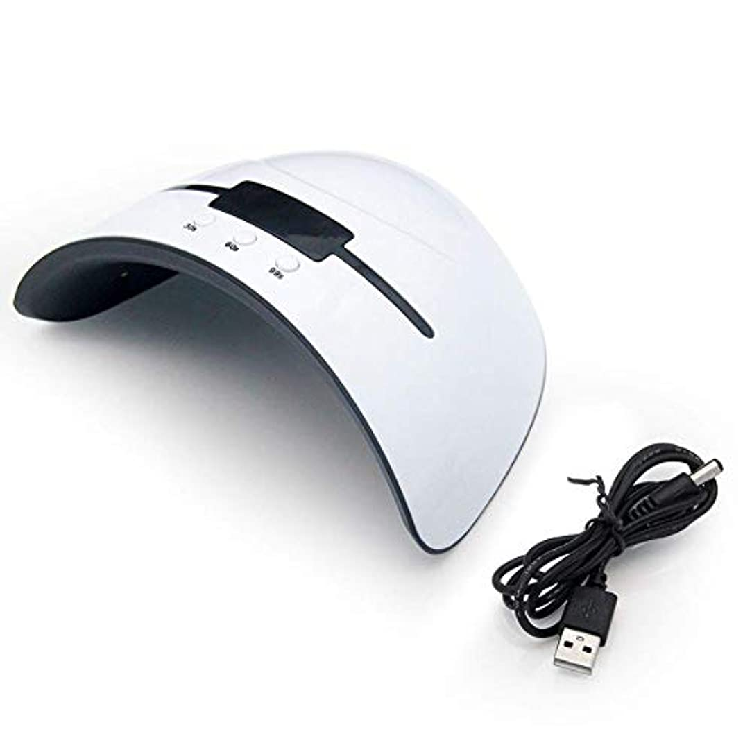 メイエラ派生する浴室ネイルドライヤー36W UVランプすべてのタイプのネイルドライヤージェル12個のLEDネイルマシン用UVランプ硬化30秒60秒90秒タイマーUSBポータブルUVランプ、画像としての色