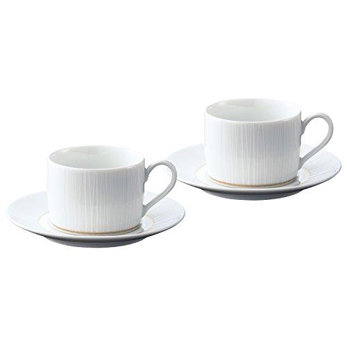 Noritake ノリタケ カップ & ソーサー ( ペアセット ) ( コーヒー ティー 兼用) 180cc ネージュ  2客  ファインポーセレン P91188/1642