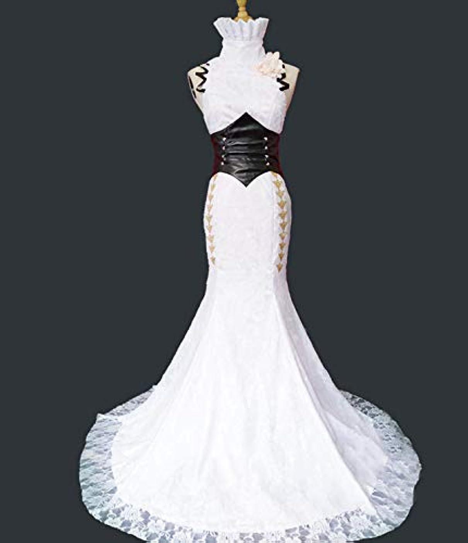 順応性のあるラメ王朝アイデンティティ5 芸者 ハンター コスプレ 衣装 花嫁 女性M 白