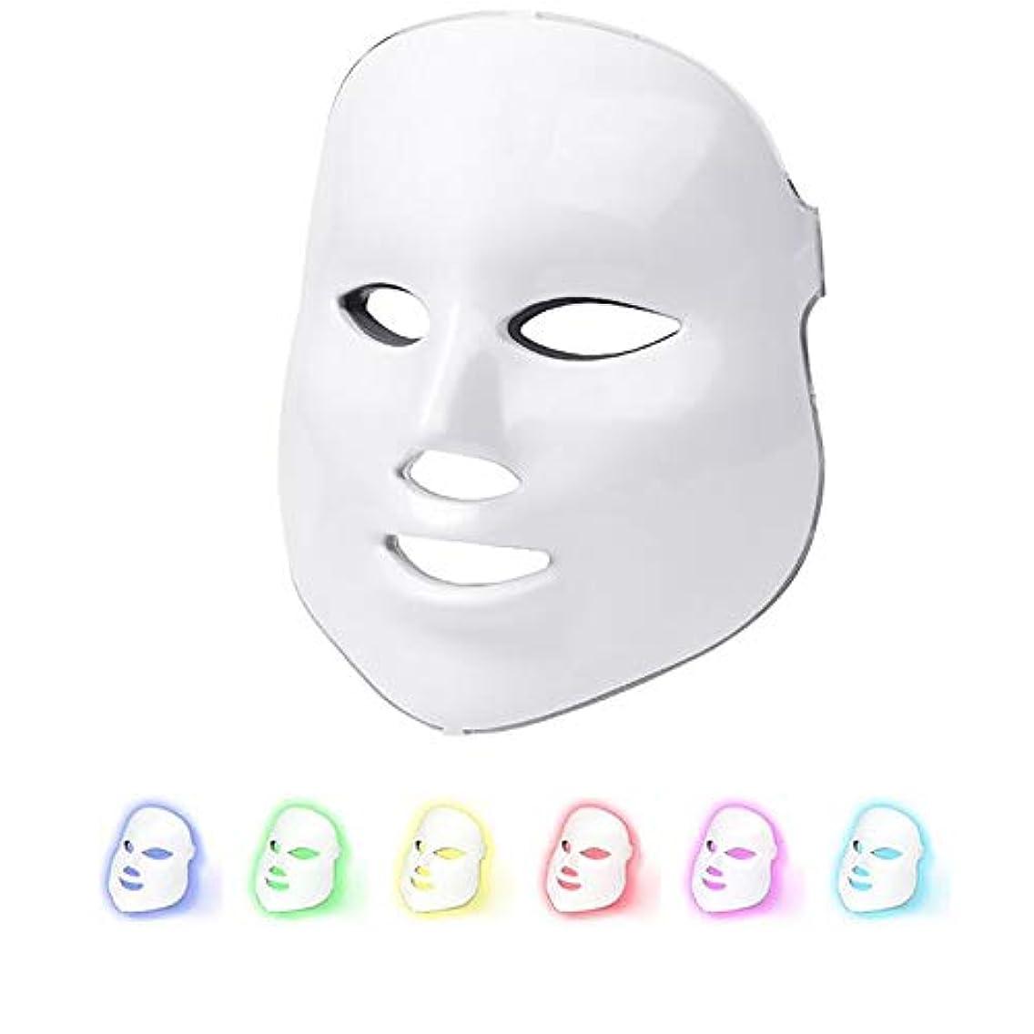 受信逸話模索ライトセラピーマスク、7色LEDフェイスマスク、アンチエイジングファーミングスキン改善、健康な肌の若返り