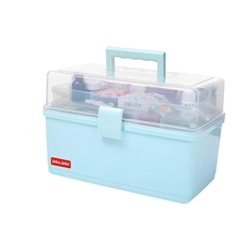 砲兵器官デザート家の完全な緊急のキットの救急箱特別な大容量の多層旅行 SYFO (Color : Blue)