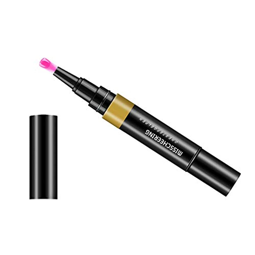 顔料干渉する殺人Toygogo ジェル マニキュアペン ワニスラッカー ネイルアートペン 3 イン 1 サロン 初心者 セルフネイル DIY - ピンク