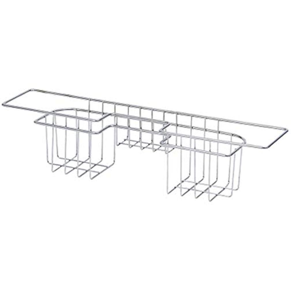 横に管理者アトラスTiamu ステンレス鋼製、キッチンのトレイ、皿水切り乾燥ラック、シンクのホルダー、バスケット、ナイフとスポンジのホルダー、皿のラック、キッチンのためのオーガナイザー