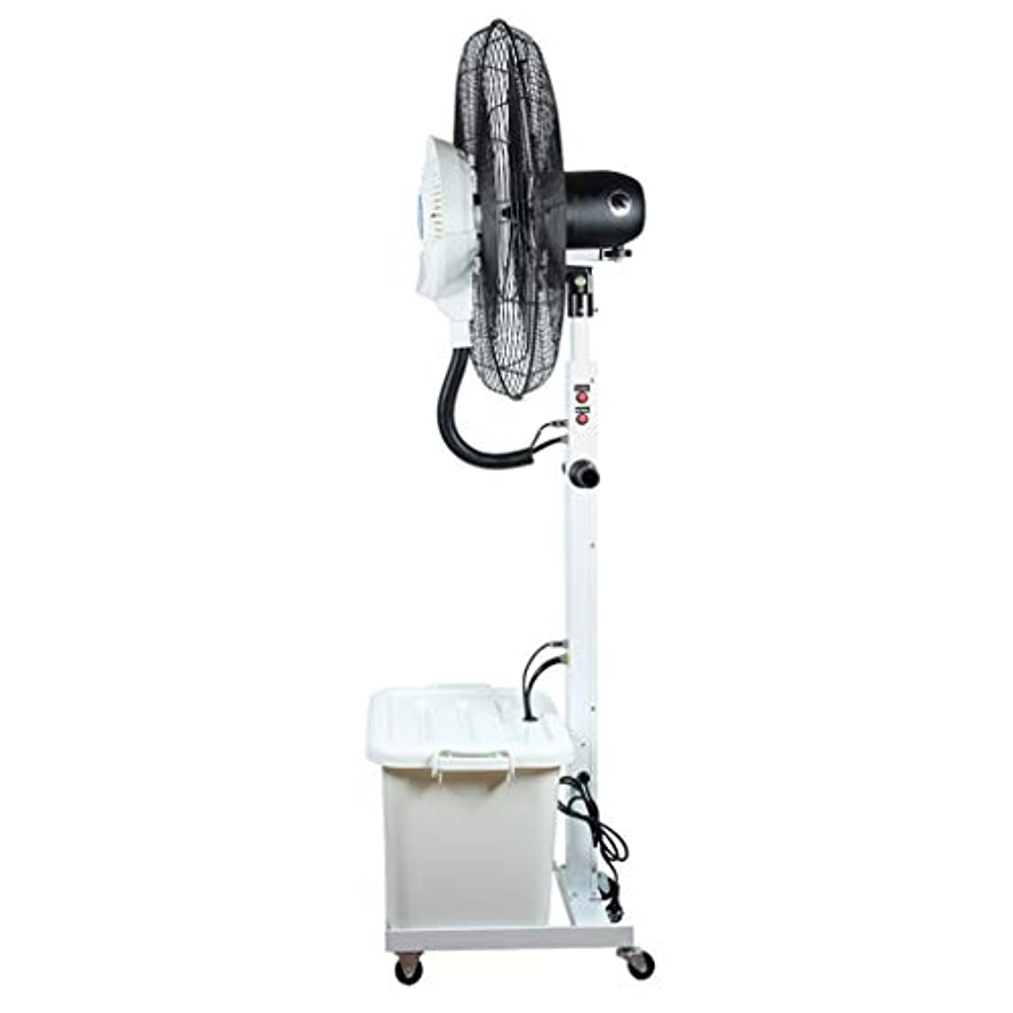 試用暴力的な定刻リビング扇風機ハイパワーファン 白 台座ファン 加湿と冷却 振動する 冷風サーキュレータ 回転ファンヘッド シンプルで組み立てが簡単 - 固定身長175cm