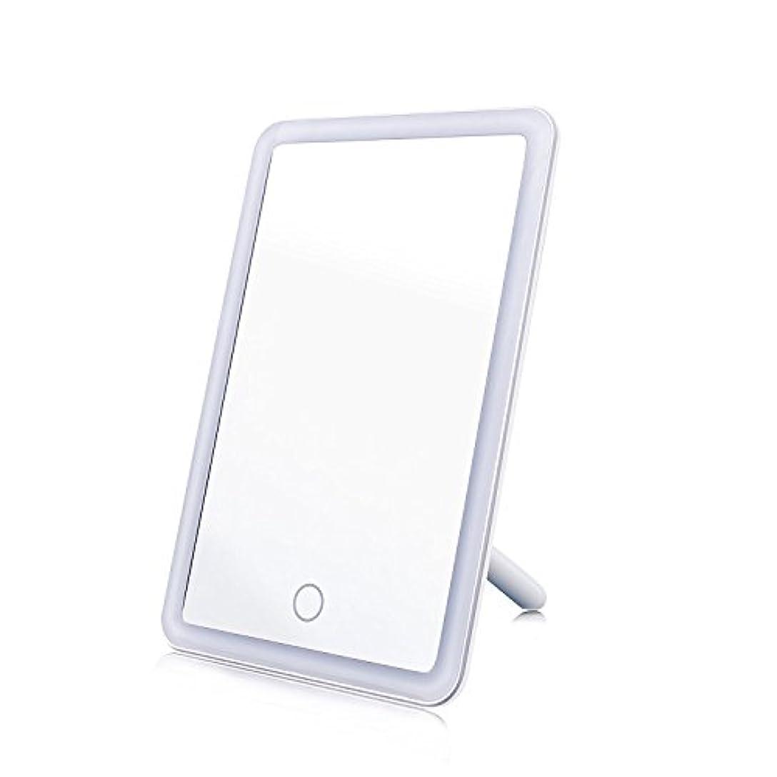化粧鏡 女優ミラー MAVIE 鏡 LEDライト付き タッチスクリーン 明るさ調節可 USB給電 角度180度調節可能 卓上スタンドミラー プレゼント 寝室 テーブルで置ける