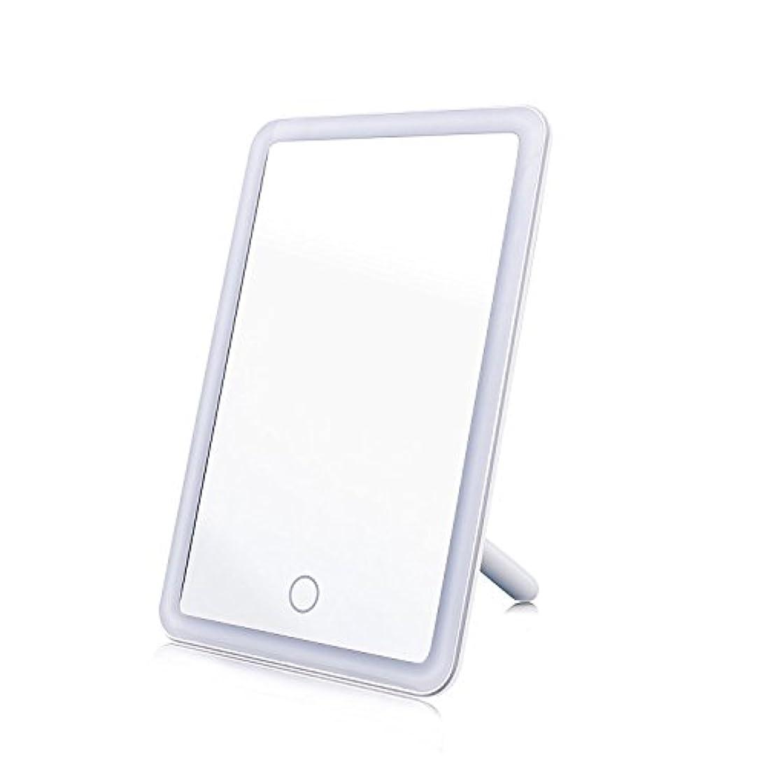 ビールパイプ適合する化粧鏡 女優ミラー MAVIE 鏡 LEDライト付き タッチスクリーン 明るさ調節可 USB給電 角度180度調節可能 卓上スタンドミラー プレゼント 寝室 テーブルで置ける