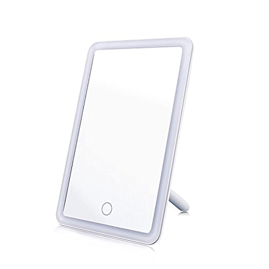 ディプロマと遊ぶモール化粧鏡 女優ミラー MAVIE 鏡 LEDライト付き タッチスクリーン 明るさ調節可 USB給電 角度180度調節可能 卓上スタンドミラー プレゼント 寝室 テーブルで置ける