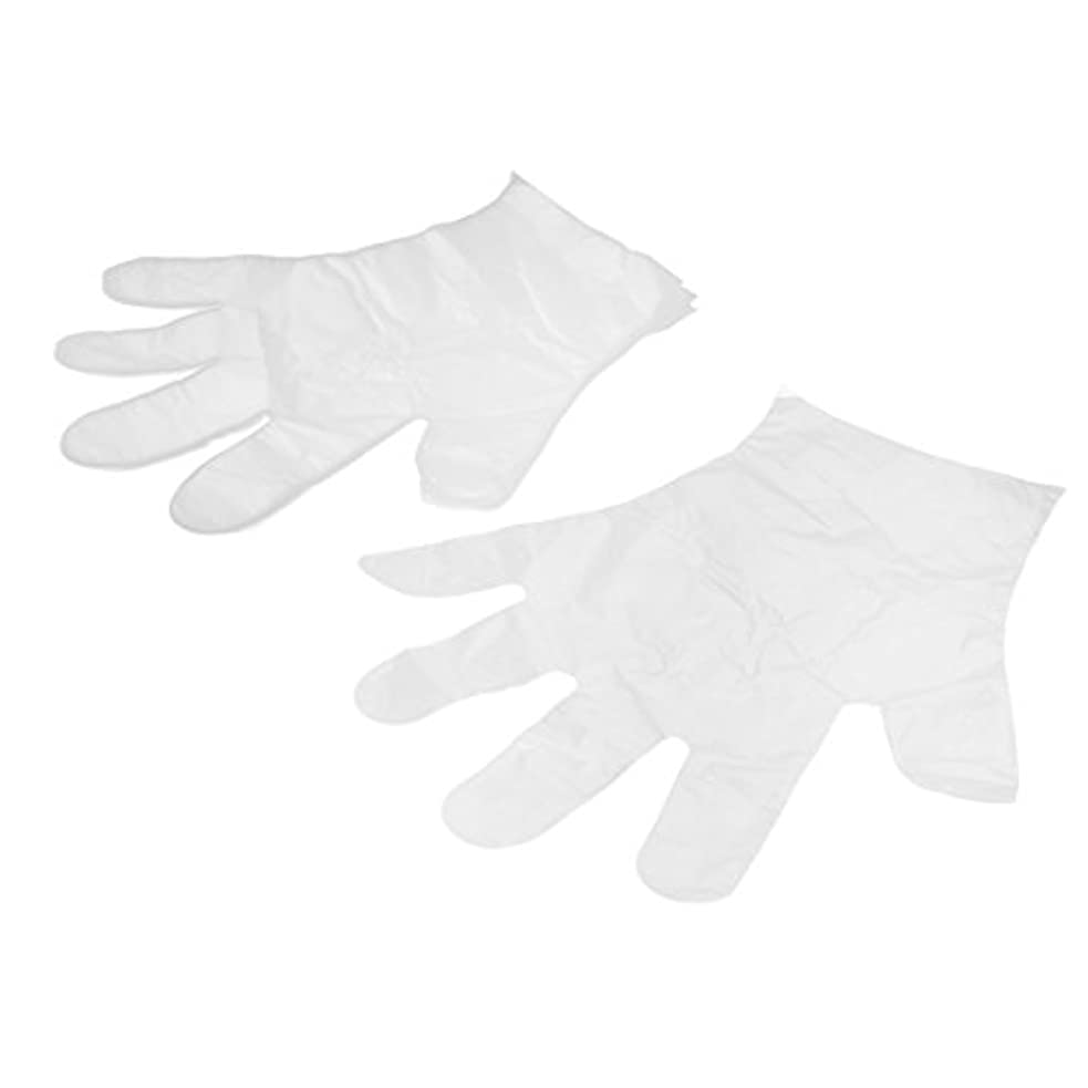 瞑想へこみグレードuxcell 使い捨て手袋 家庭用 食べ物サービス 手の保護 透明 プラスチック 28 x 20cm 25ペア入り