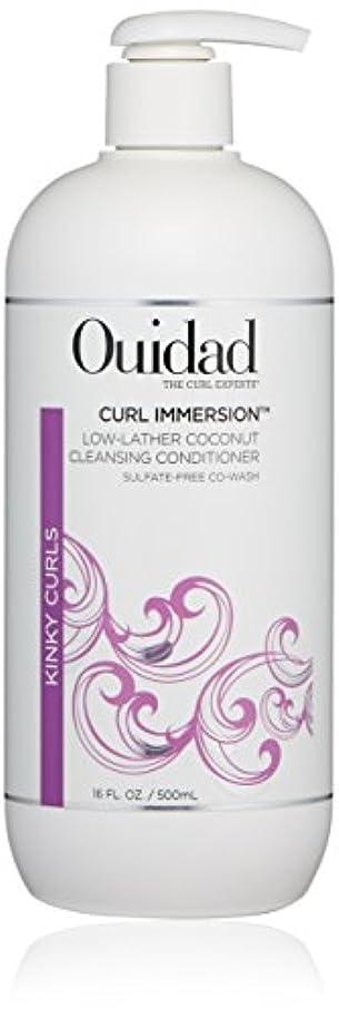 忌み嫌う刈り取る織るウィダッド Curl Immersion Low-Lather Coconut Cleansing Conditioner (Kinky Curls) 500ml/16oz並行輸入品