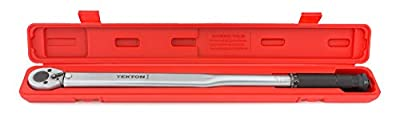 TEKTON 24340 1/2-Inch Drive Click Torque Wrench (25-250 ft.-lb./33.9-338.9 Nm)