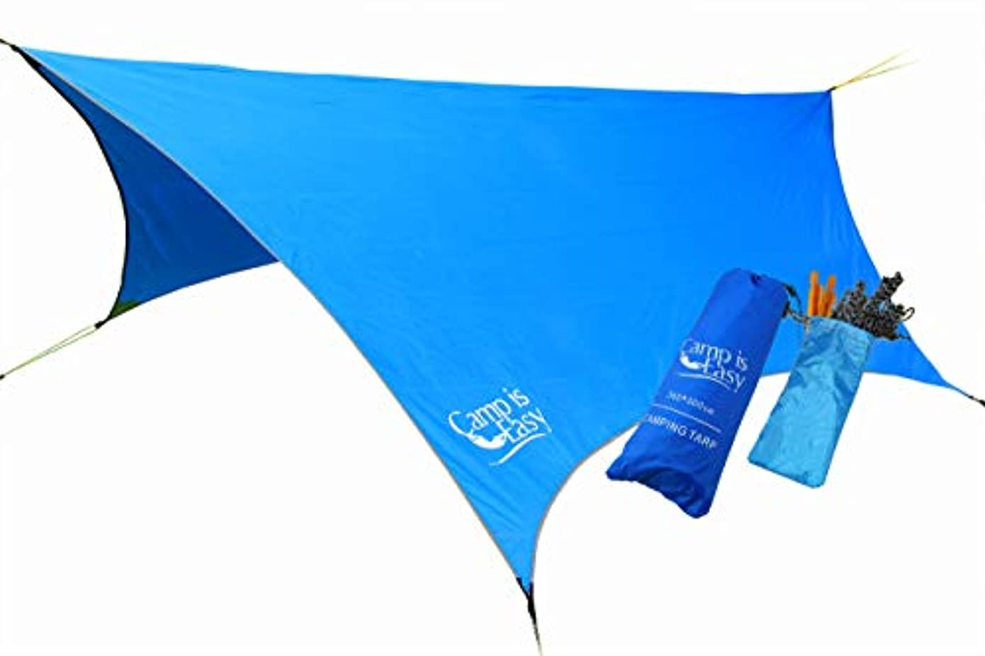 ひまわりトラクターポーチWaterproof Rip Resistant Camping Tarp For Any weather. Perfect Tent cover Or Hammock Rain Fly. Use For Shelter Or Sunshade. Ultralight And Portable Nylon Fabric. Great For Hiking, Backpacking & Travel [並行輸入品]