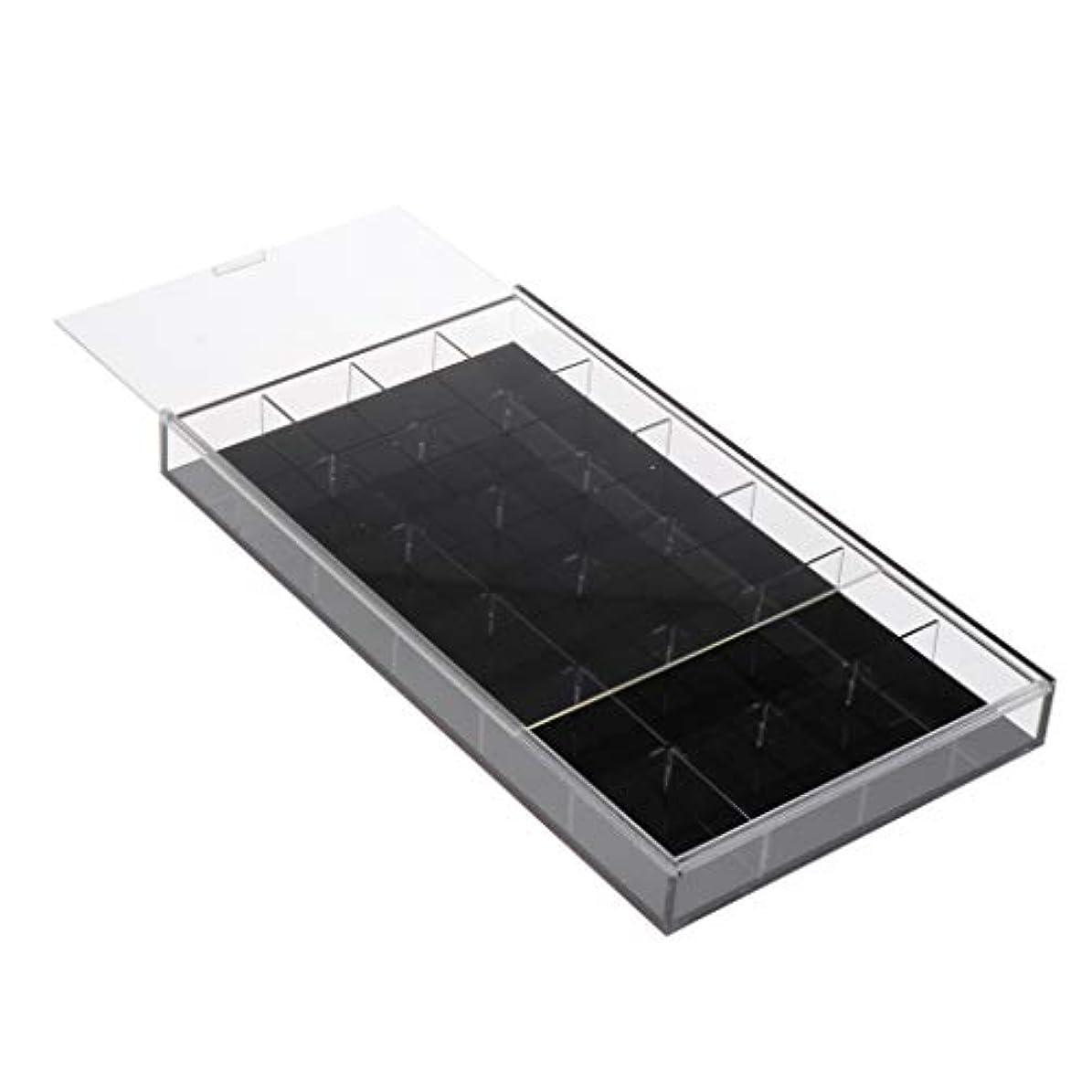アンプ赤面何十人もToygogo ネイルアート 収納ケース アクリルケース ジェルネイル ネイルパーツ 小物入れ 全2カラー - 黒