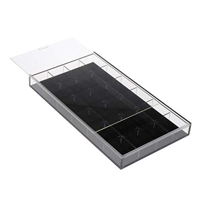 国家あたたかいブラウスToygogo ネイルアート 収納ケース アクリルケース ジェルネイル ネイルパーツ 小物入れ 全2カラー - 黒
