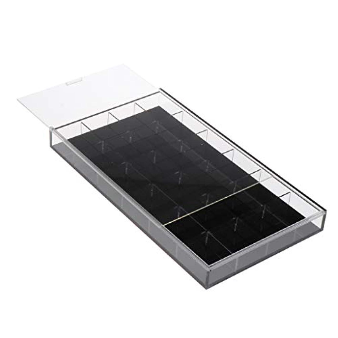 スチール海里パターンToygogo ネイルアート 収納ケース アクリルケース ジェルネイル ネイルパーツ 小物入れ 全2カラー - 黒