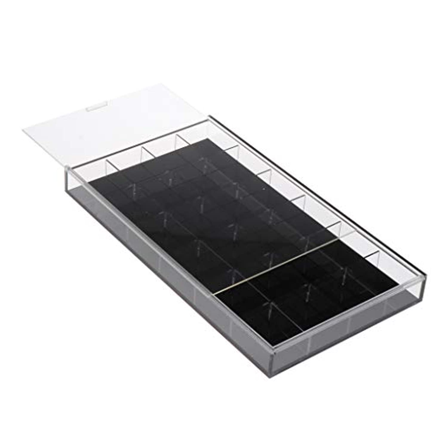 名声理論的描写Toygogo ネイルアート 収納ケース アクリルケース ジェルネイル ネイルパーツ 小物入れ 全2カラー - 黒