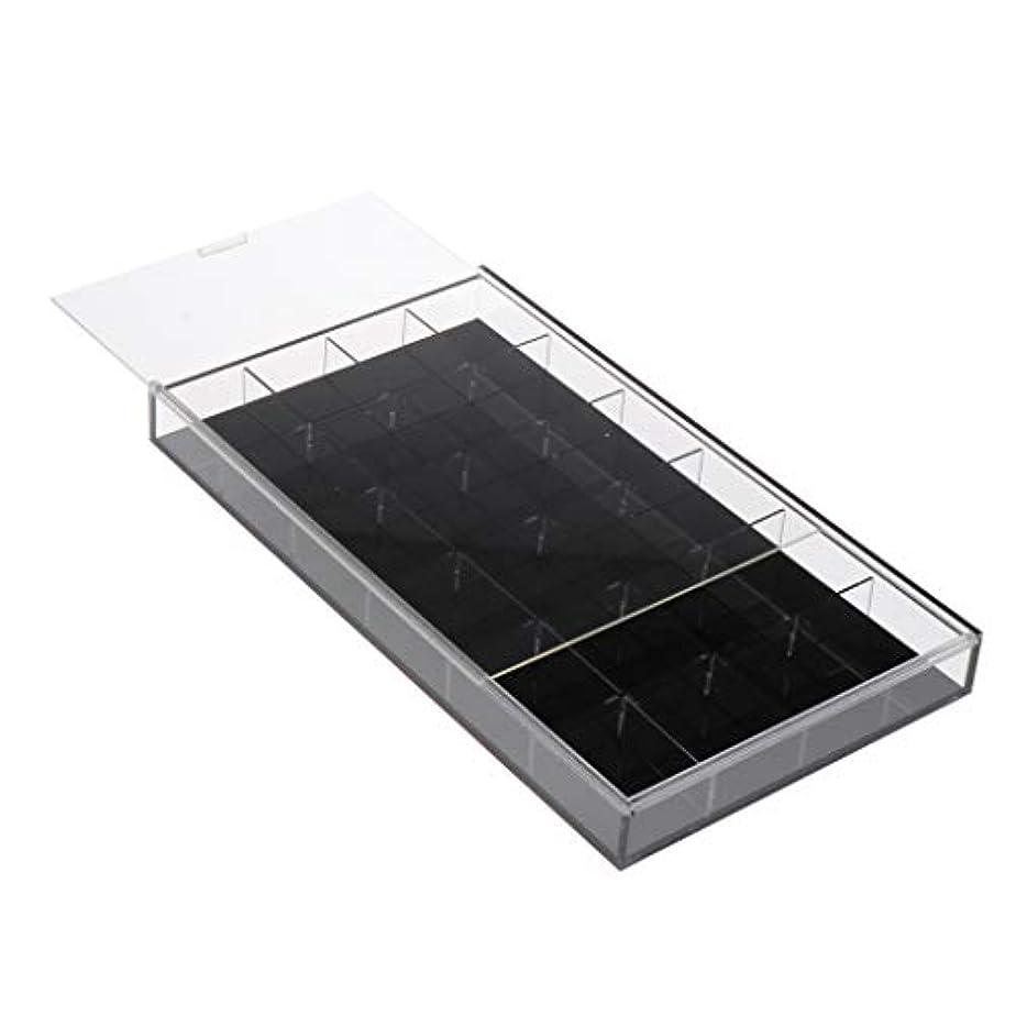 電気の勢い以下CUTICATE ジュエリー 収納ケース 24グリッド ネイルアート ラインストーン ビーズ 収納ボックス 全2カラー - 黒