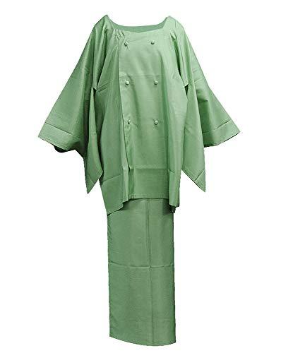 [キモノカフェ] kimono cafe 雨コート 二部式 フリーサイズ 着物雨コート 晴雨兼用 前掛け (利休)