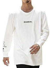 (エーエスエム) A.S.M メンズ ロングTシャツ WEB限定 A.S.M × KANGOL コラボ 限定 オリジナル 別注 KANGOLロゴ刺繍 袖プリント クルーネック 長袖 Tシャツ 02-61-9811