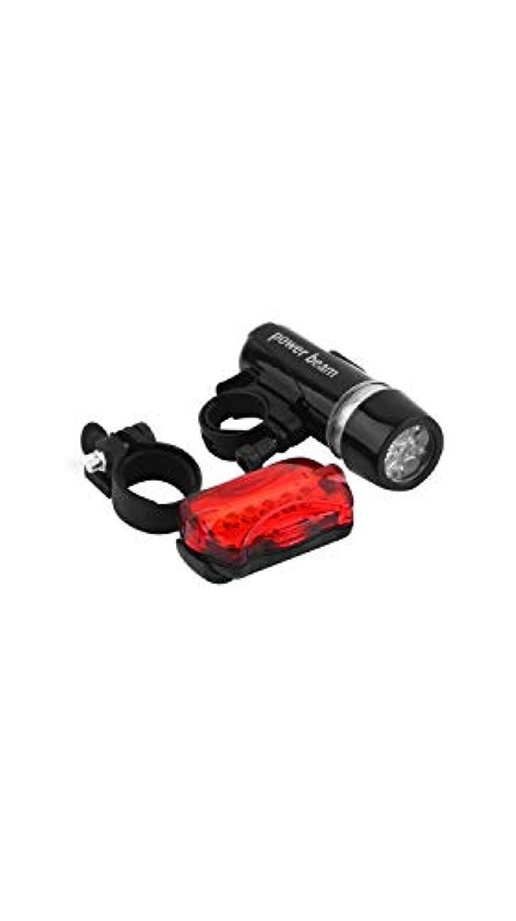 形容詞辞任放散するSCRT 自転車用ヘッドライト+テールライト5 LEDスポットライト防水&割れ防止セットライト自転車アクセサリー25mmシートポストに取り付け (色 : ブラック)