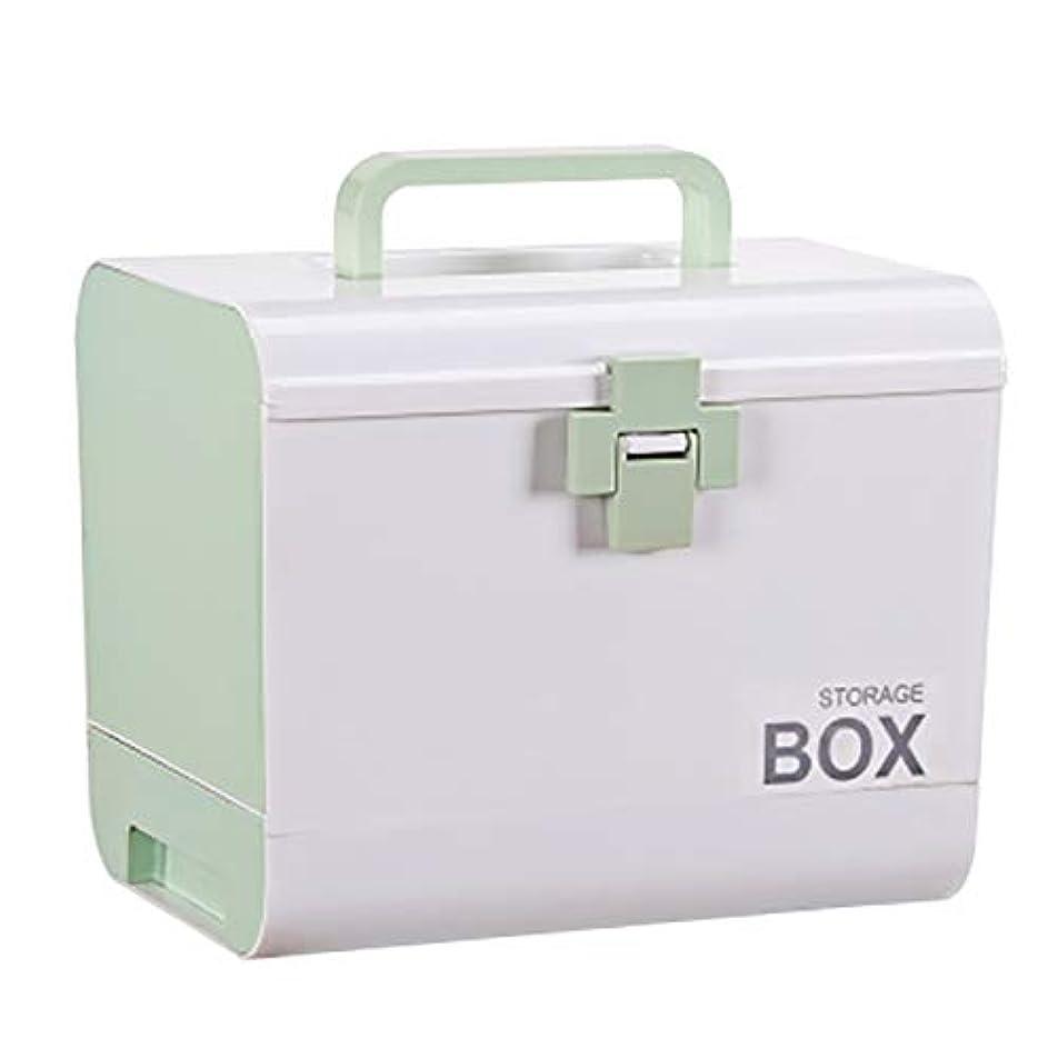 バックグロー批判フェリモア 救急箱 救急セット 薬箱 家庭用 メディカルボックス 車載用 防災 ツールボックス (グリーン)