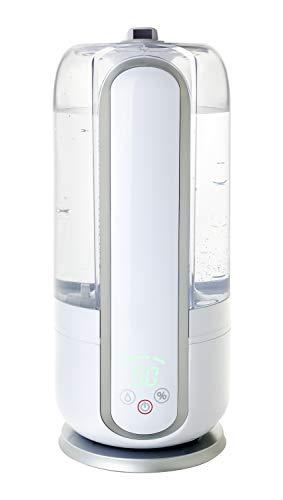 山善 超音波式加湿器(木造約5畳/プレハブ約8畳) タンク容量2.5L 上部給水 湿度センサー搭載 ホワイト MZ-K25(W)
