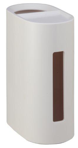 小久保 ゴミ箱付きティッシュケース DRESSER mode ホワイト ST-013