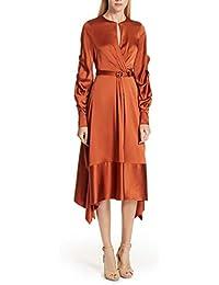 (ジョナサンシムカイ) Jonathan Simkhai Ruched Sleeve Satin Midi Dress シャーリングサテンミディアムドレス (並行輸入品)