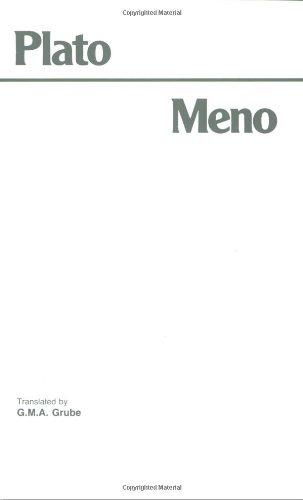 Download Plato Meno (Hackett Classics) 0915144247