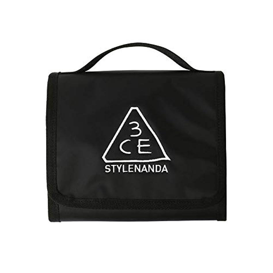 引退した間違いラダ[3CE] Wash Bag Small/ウォッシュ バッグ スモール 韓国コスメ 化粧ポーチ 防水 折り畳み ポーチ 旅行 (#BLACK) [並行輸入品]