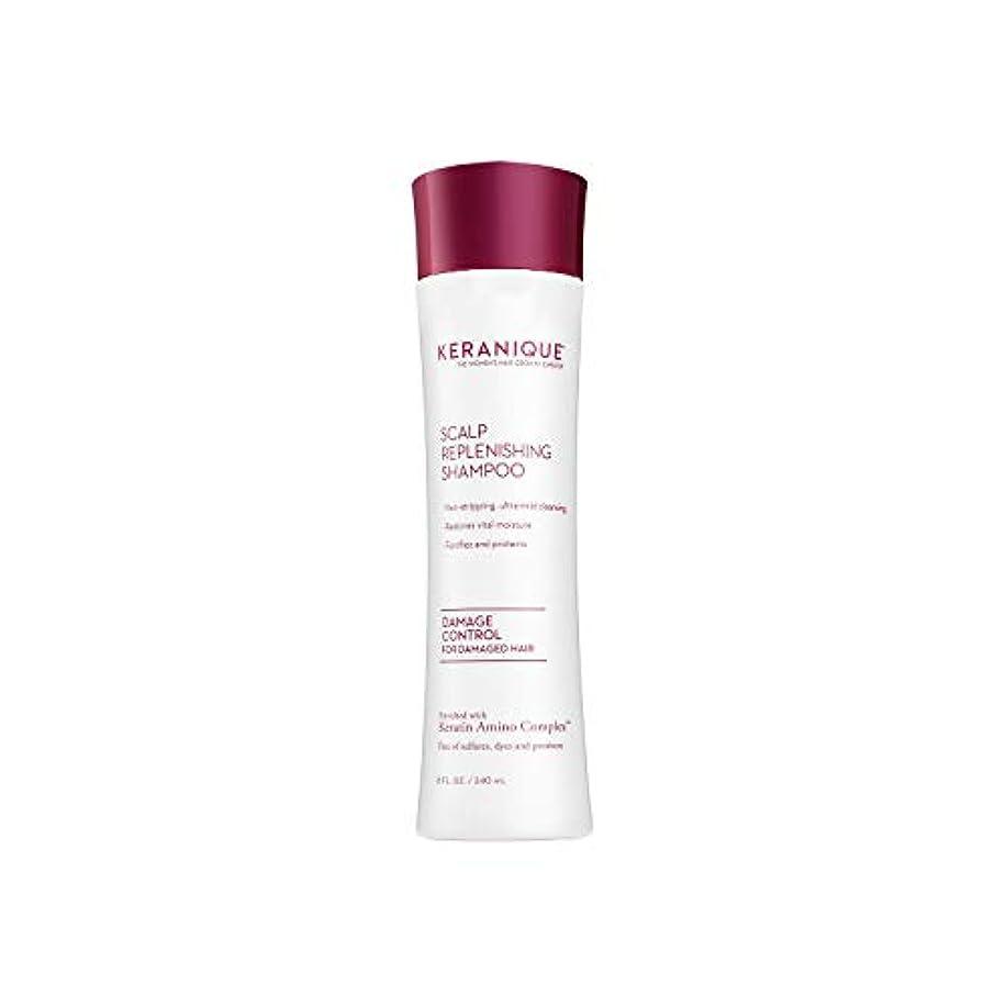 何もない爆発物としてKeraniqueダメージコントロール頭皮補充シャンプー、8液量オンス - ケラチンアミノコンプレックス、硫酸塩、染料、パラベンフリー - ノンストリッピング、強化および保護 - 将来の損傷した髪と修理を防止
