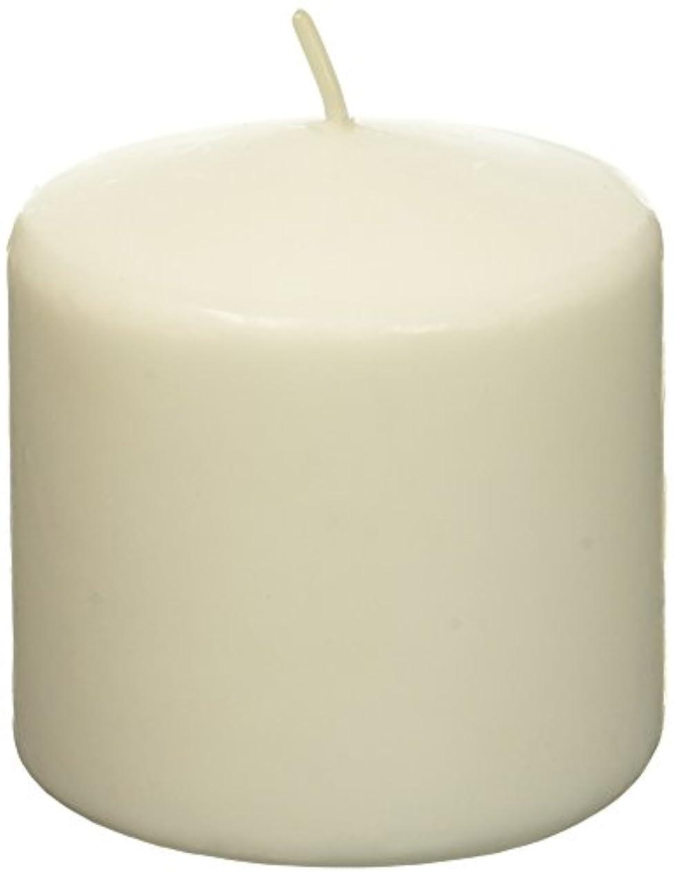 啓示シンプトンとしてZest Candle CPZ-007-12 3 x 3 in. White Pillar Candles -12pcs-Case- Bulk
