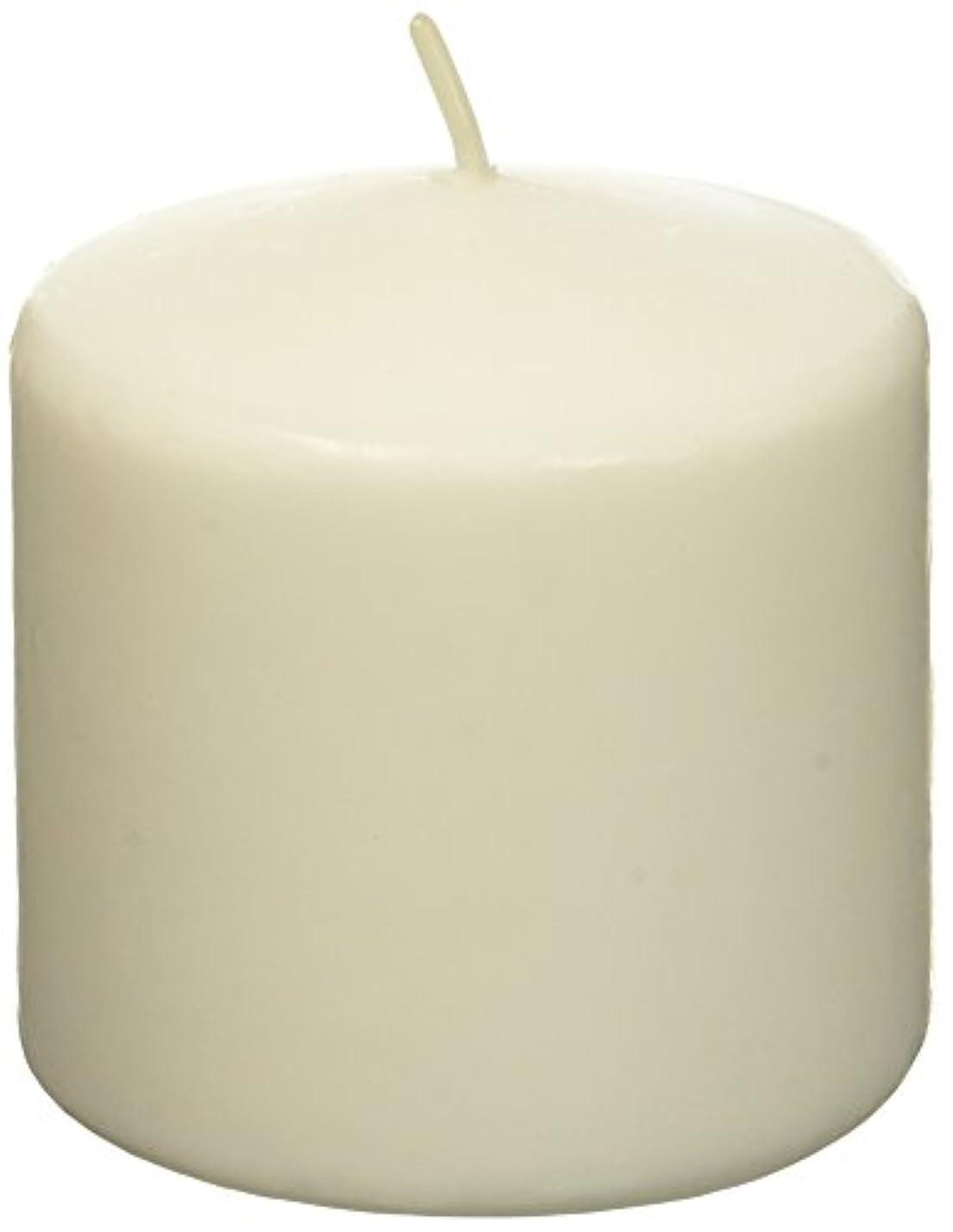 踏み台スライス広くZest Candle CPZ-007-12 3 x 3 in. White Pillar Candles -12pcs-Case- Bulk