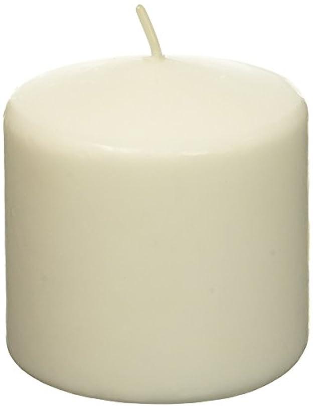 難破船温度計インゲンZest Candle CPZ-007-12 3 x 3 in. White Pillar Candles -12pcs-Case- Bulk