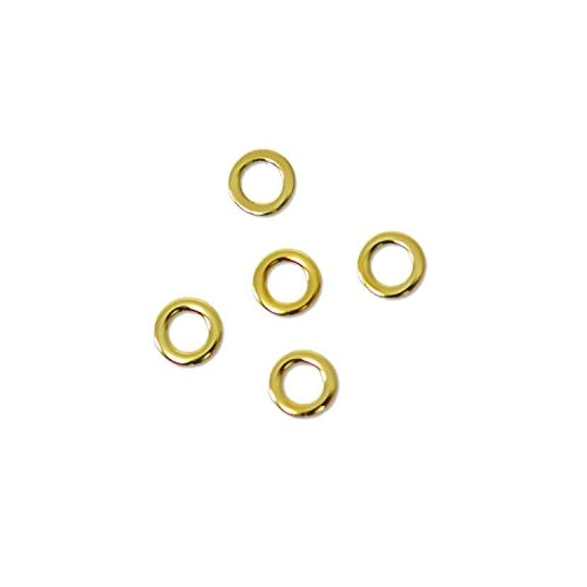 オート消防士ドリル薄型メタルパーツ10052 ラウンドS 2mm(内寸1mm) ゴールド 50個入り