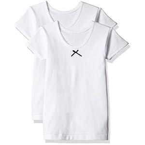 (グンゼ)GUNZE キッズ 女児 あったか厚地(部屋干し・抗菌防臭) 綿100% 3分袖シャツ2枚組
