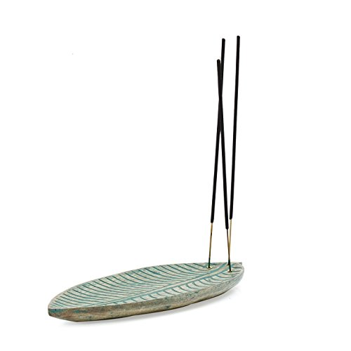 [해외]스토어 Indya 나무 잎 모양의 향로 홀더 안전 향 재 포수 가정 장식/Store Indya~ wooden leaf-shaped incense burner holder Safe incense ash catcher house decoration