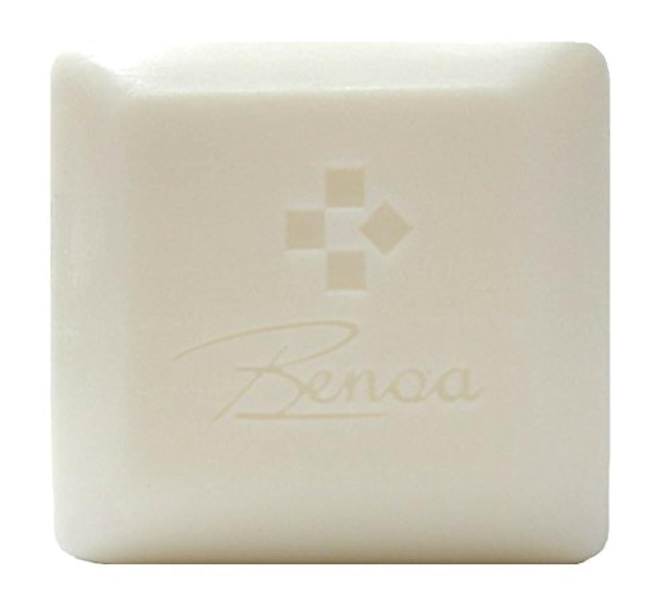 再開ハンマー順応性のある馬油ソープ ベノア 洗顔石鹸 80g