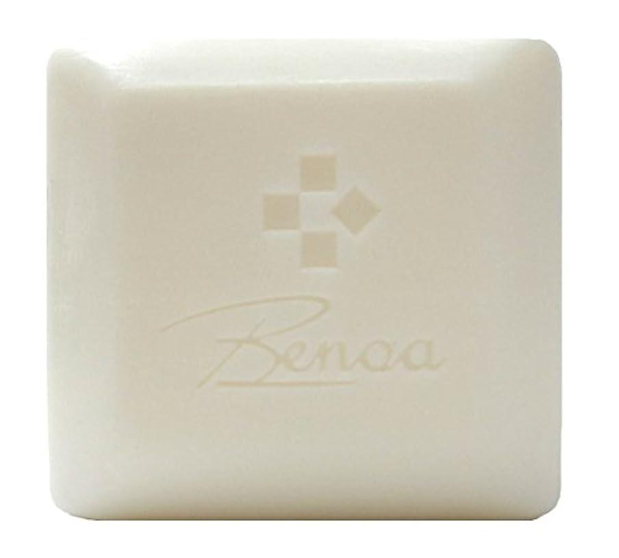 地下室血色の良い取得する馬油ソープ ベノア 洗顔石鹸 80g