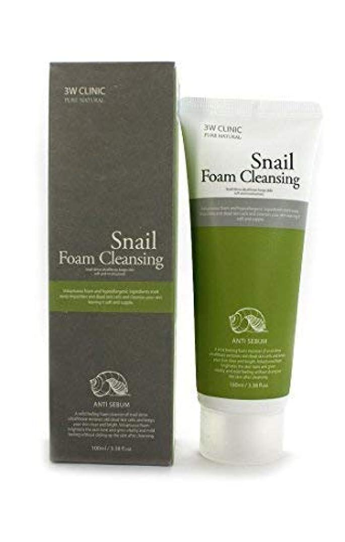 アスレチック保守可能品Snail Foam Cleansing クリニック純粋な天然100Ml(3.38Fl。オズ) [並行輸入品]