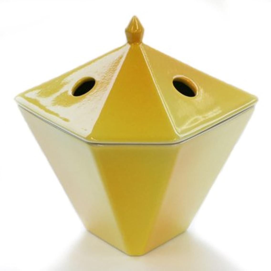 その岩水銀の縁香炉 黄