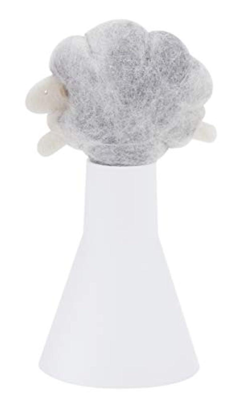土砂降りゆるくスープSLEEP sheep アロボックル ライトグレー
